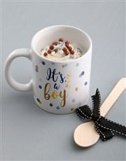 Its A Boy Cake In A Mug