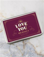 Personalised Love You Cookie Tin