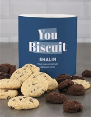 Personalised Blue You Biscuit Tube