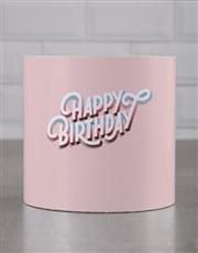 Personalised Pink Rainbow HBD Cookie Tube