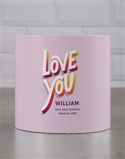 Personalised Colourful Love You Cookie Tube