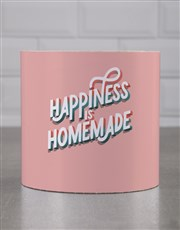 Personalised Colourful Happy Home Cookie Tube