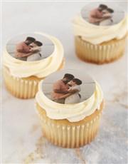 Personalised Vanilla Photo Cupcakes