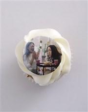 Personalised Red Velvet Photo Cupcakes