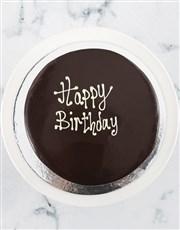 Personalised Message Vanilla Drip Cake