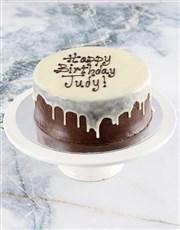 Personalised Photo Chocolate Drip Cake