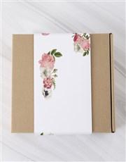 Personalised Flowery Photo Macaroon Box
