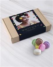 Personalised Polka Dot Photo Macaroon Box