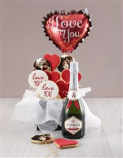 Personalised Love You Cookie Bouquet
