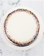 Personalised Magical Rainbow Photo Cake