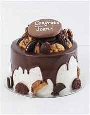 Personalised Cookie and Brownie Drip Cake