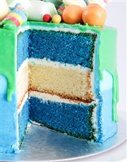 Personalised Blue Magic Drip Cake
