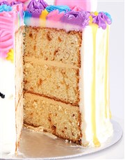 Personalised Caramel Unicorn Drip Cake