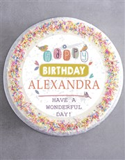 Personalised Birthday For Her Cake