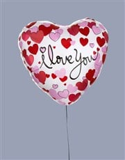 I Love You Dotted Hearts Balloon