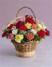 Carnation Wicker Basket