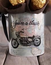 Ferrero and Motorbike Arrangement in Mug