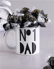 No1 Dad Arrangement in Mug