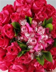 Pink Rose and Lindt Bouquet