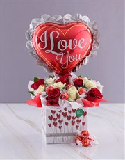 Love You Chocolates and Roses