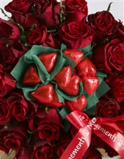 Red Rose Heart Choc Bouquet