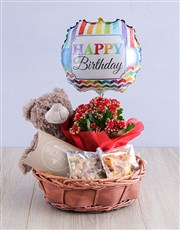 Delightful Birthday in a Willow Basket
