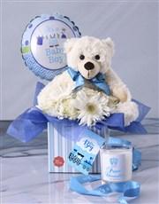 Baby Boy Flower Gift Box
