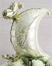 To the Moon White Rose Vase