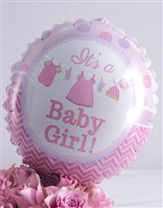 Welcome Baby Purple Arrangement