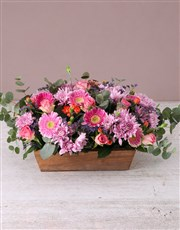 Delicate Floral in Wooden Box