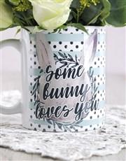 Some Bunny Loves you Floral Mug Arrangement
