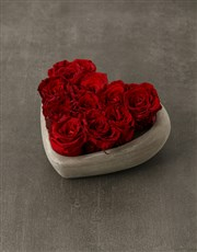 Heart Of Preserved Roses