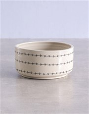 Mixed Cyclamen in Heart Ceramic