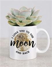 I Love You To The Moon Mug