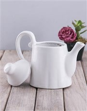Grow Old Together Rose And Succulent Teapot