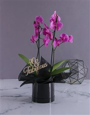 Personalised Fabulous Birthday Orchids