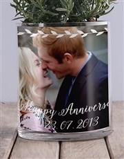Anniversary Lavender Photo Vase