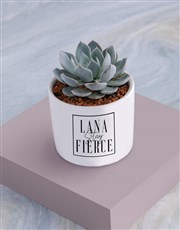 Personalised Stay Fierce Succulent