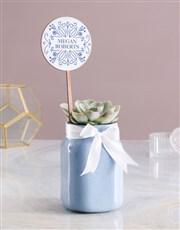 Personalised Succulent Jar