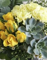 Mixed Floral in Black Vase