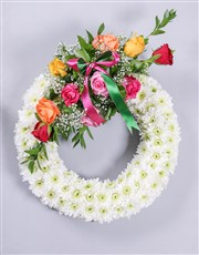Mixed Rose and Gerbera Sympathy Wreath