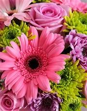 I Love You Mom Floral Arrangement Mug