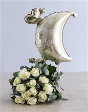 White Moon and Back Bouquet