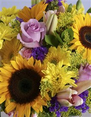Assorted Classic Flowers In Green Vase