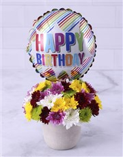 Mixed Sprays and Birthday Balloon