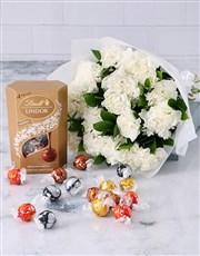 Crisp White Carnation Cluster