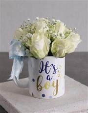 Baby Boy Roses in a Mug