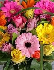 Mixed Rose and Gerbera Daisy Arrangement