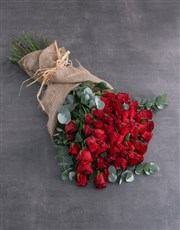 Fifty Layered Red Roses
