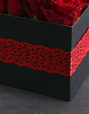 Red Laced Rose Box